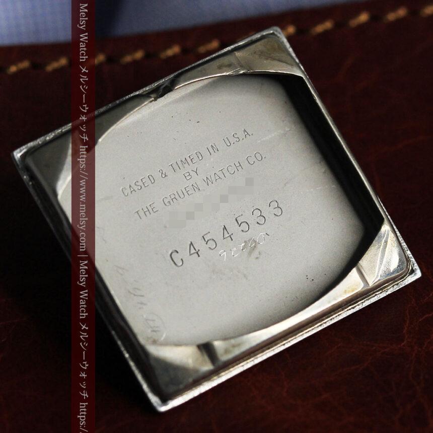 グリュエン 際立つ鋭角の煌びやかなアンティーク腕時計 【1951年頃】-W1294-23