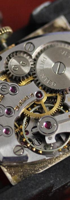 グリュエン 際立つ鋭角の煌びやかなアンティーク腕時計 【1951年頃】-W1294-24