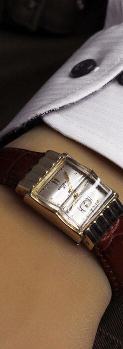 グリュエン 際立つ鋭角の煌びやかなアンティーク腕時計 【1951年頃】-W1294-26