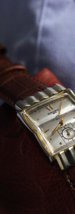 グリュエン 際立つ鋭角の煌びやかなアンティーク腕時計 【1951年頃】-W1294-3