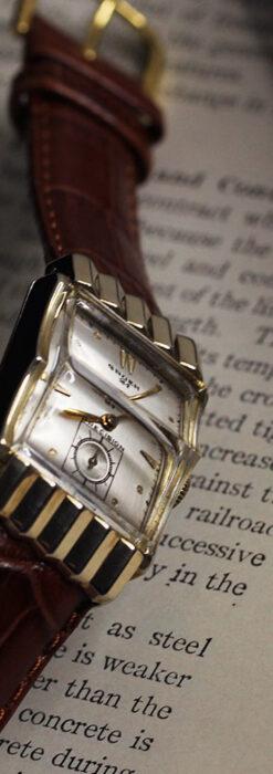 グリュエン 際立つ鋭角の煌びやかなアンティーク腕時計 【1951年頃】-W1294-4