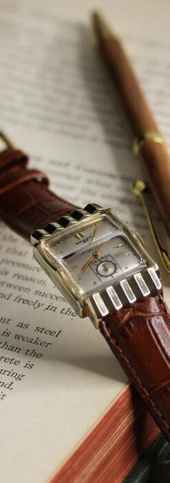 グリュエン 際立つ鋭角の煌びやかなアンティーク腕時計 【1951年頃】-W1294-6