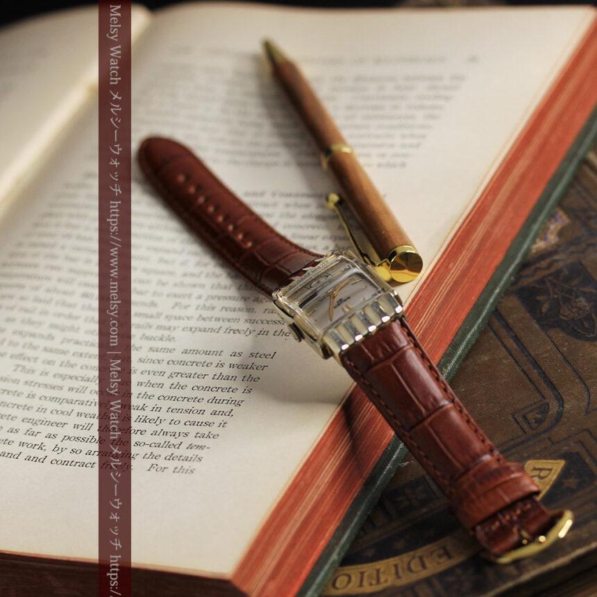 グリュエン 際立つ鋭角の煌びやかなアンティーク腕時計 【1951年頃】-W1294-7