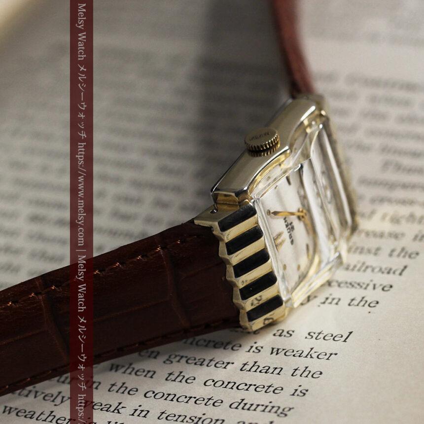 グリュエン 際立つ鋭角の煌びやかなアンティーク腕時計 【1951年頃】-W1294-8