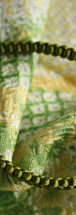 懐中時計用の絹製組み紐・時計紐【松葉色】-CS4033-1