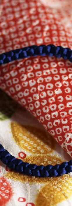 懐中時計用の絹製組み紐・時計紐【紺青】-CS4035-1