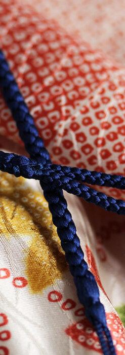 懐中時計用の絹製組み紐・時計紐【紺青】-CS4035-2