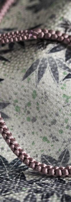 懐中時計用の絹製組み紐・時計紐【梅鼠】-CS4036-1