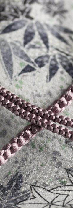 懐中時計用の絹製組み紐・時計紐【梅鼠】-CS4036-2