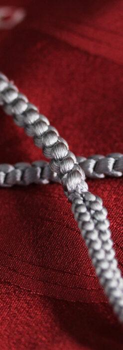 懐中時計用の絹製組み紐・時計紐【銀鼠】-CS4038-2