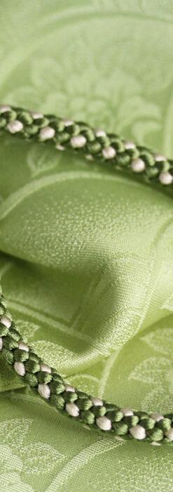 懐中時計用の絹製組み紐・時計紐【松葉色&練色】-CS8034-1
