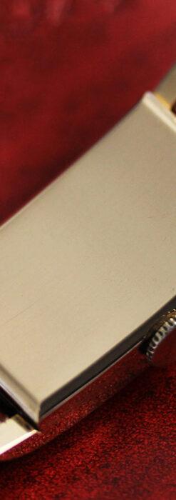 ロンジンの曲線の綺麗な縦長アンティーク金無垢腕時計 【1943年製】-W1530-19