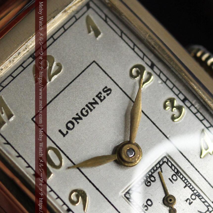 ロンジンの曲線の綺麗な縦長アンティーク金無垢腕時計 【1943年製】-W1530-21
