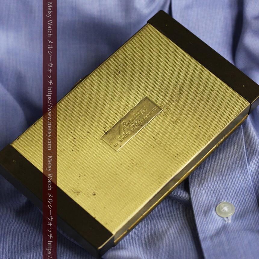 ロンジンの曲線の綺麗な縦長アンティーク金無垢腕時計 【1943年製】-W1530-24