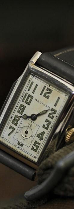 趣きある寂びの美しさ ウォルサムのアンティーク腕時計 【1930年頃】-W1531-14