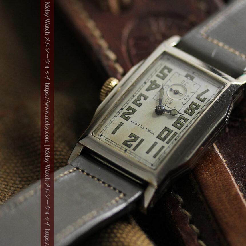趣きある寂びの美しさ ウォルサムのアンティーク腕時計 【1930年頃】-W1531-15