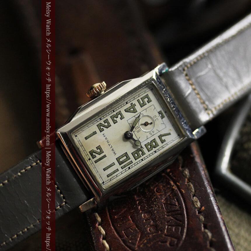 趣きある寂びの美しさ ウォルサムのアンティーク腕時計 【1930年頃】-W1531-16