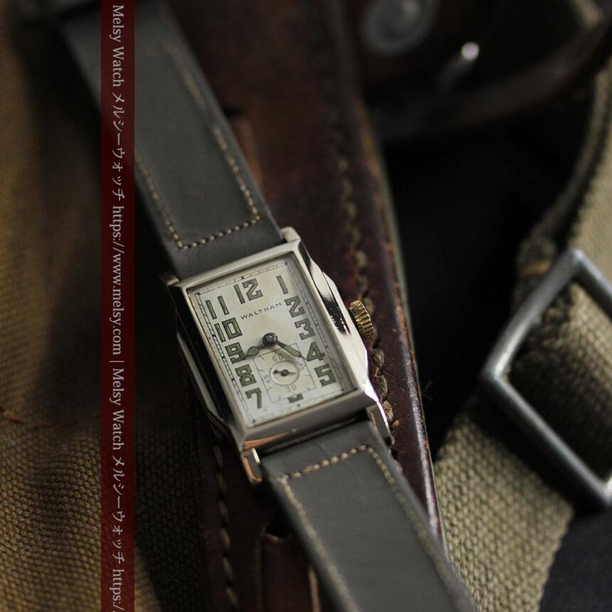 趣きある寂びの美しさ ウォルサムのアンティーク腕時計 【1930年頃】-W1531-7