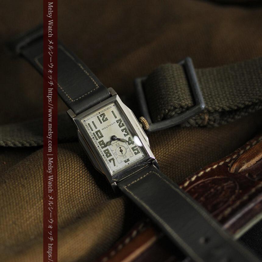 趣きある寂びの美しさ ウォルサムのアンティーク腕時計 【1930年頃】-W1531-8