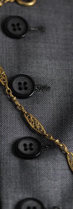 細工の綺麗な長めの懐中時計チェーン-C0490-7