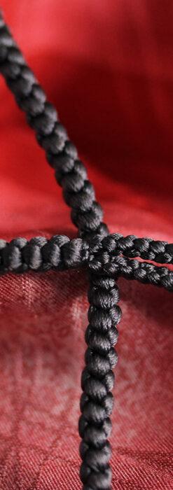 懐中時計用の絹製組み紐・時計紐【墨黒】-CS4039-2