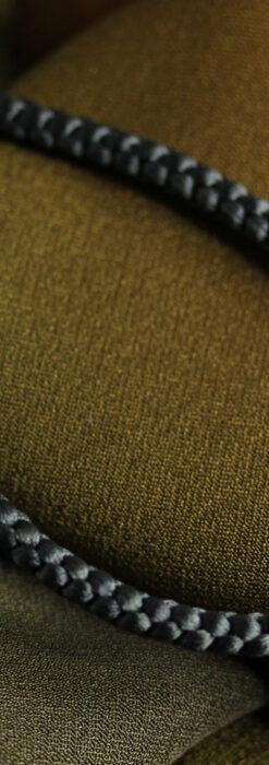 懐中時計用の絹製組み紐・時計紐【革色】-CS4040-1