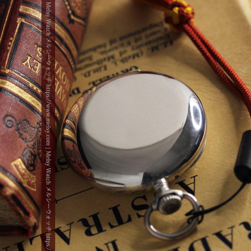 オメガの上品で雰囲気のある銀無垢アンティーク懐中時計 【1914年製】-P2303-14