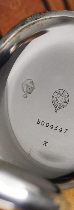 オメガの上品で雰囲気のある銀無垢アンティーク懐中時計 【1914年製】-P2303-15