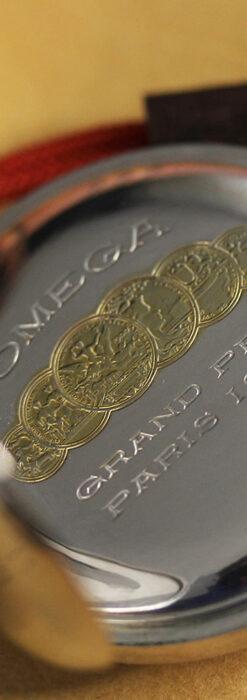 オメガの上品で雰囲気のある銀無垢アンティーク懐中時計 【1914年製】-P2303-16