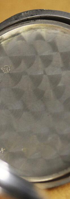 オメガの上品で雰囲気のある銀無垢アンティーク懐中時計 【1914年製】-P2303-17