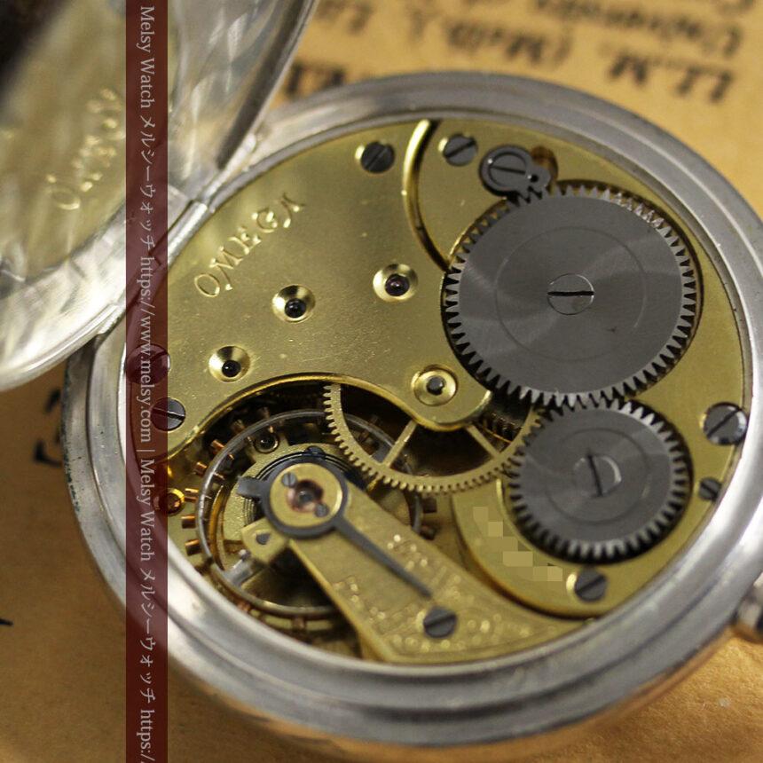 オメガの上品で雰囲気のある銀無垢アンティーク懐中時計 【1914年製】-P2303-18