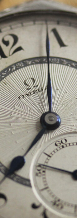 オメガ 特徴的な装飾面のアンティーク八角形懐中時計 【1922年製】-P2304-1