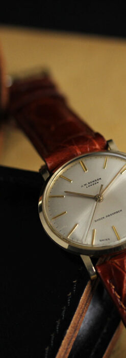 ベンソンの昭和レトロな金無垢アンティーク腕時計 【1969年頃】-W1532-1