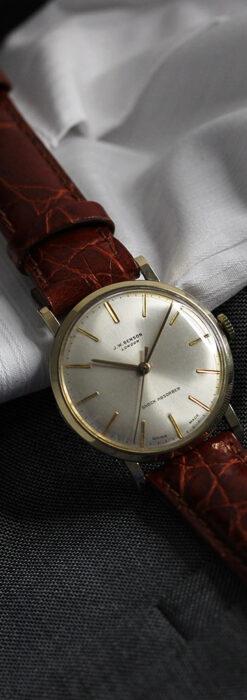 ベンソンの昭和レトロな金無垢アンティーク腕時計 【1969年頃】-W1532-10