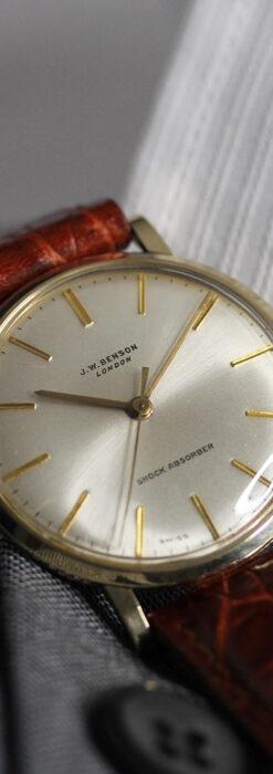 ベンソンの昭和レトロな金無垢アンティーク腕時計 【1969年頃】-W1532-11