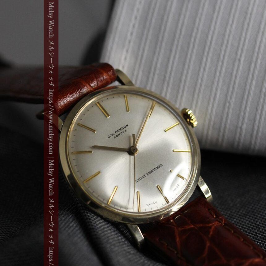 ベンソンの昭和レトロな金無垢アンティーク腕時計 【1969年頃】-W1532-12