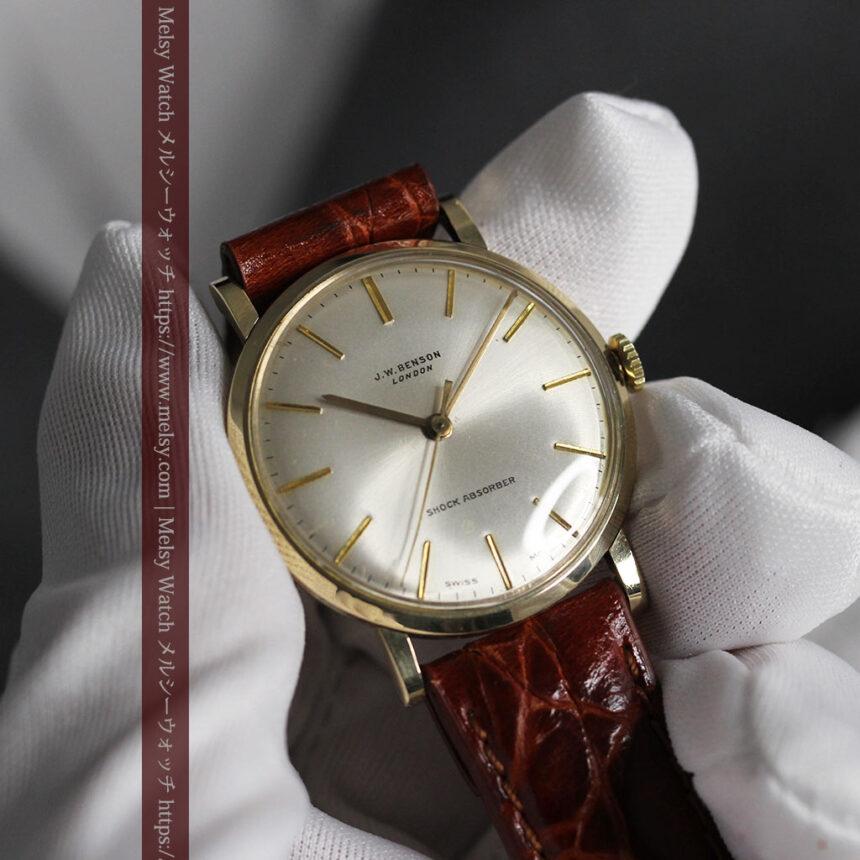 ベンソンの昭和レトロな金無垢アンティーク腕時計 【1969年頃】-W1532-13