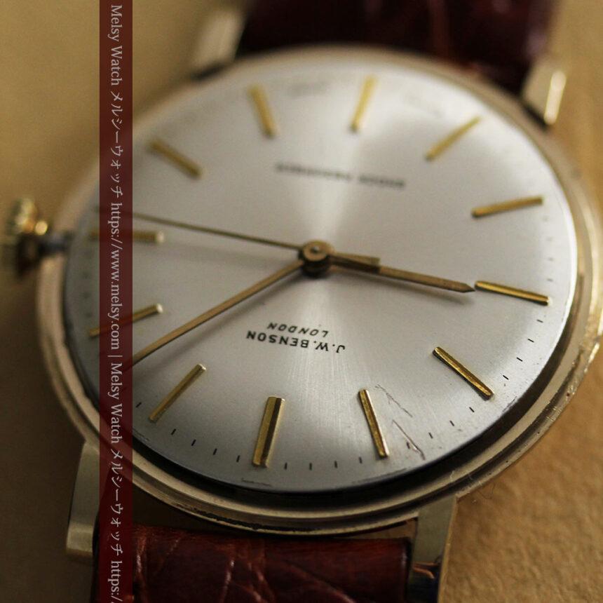 ベンソンの昭和レトロな金無垢アンティーク腕時計 【1969年頃】-W1532-17