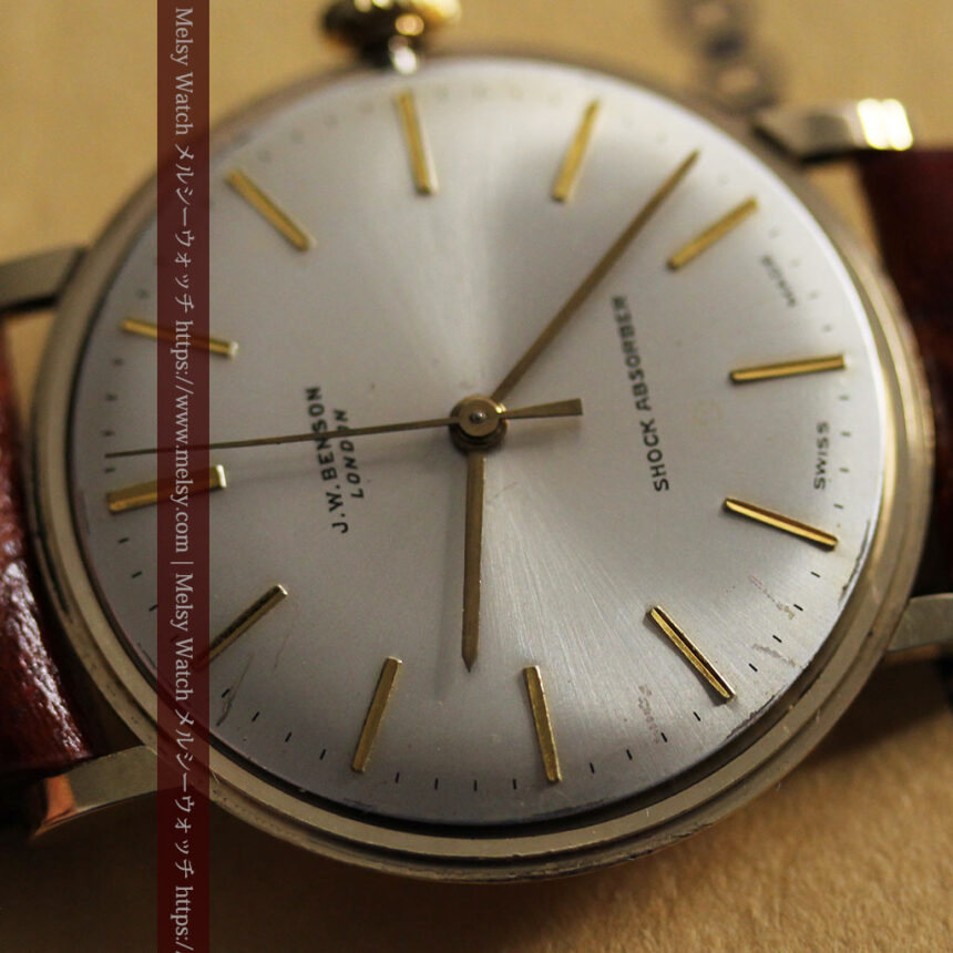 ベンソンの昭和レトロな金無垢アンティーク腕時計 【1969年頃】-W1532-18