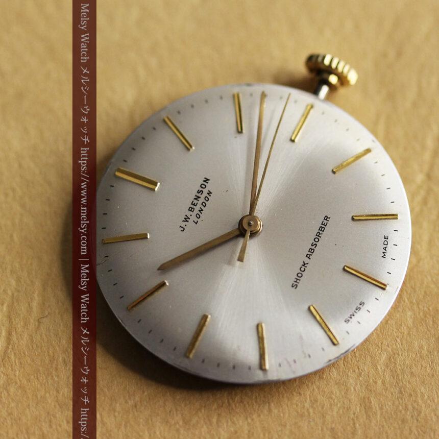 ベンソンの昭和レトロな金無垢アンティーク腕時計 【1969年頃】-W1532-19