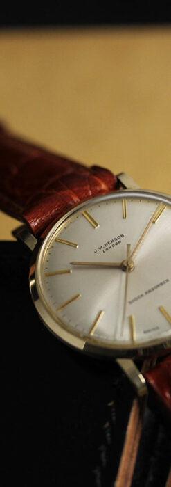 ベンソンの昭和レトロな金無垢アンティーク腕時計 【1969年頃】-W1532-2