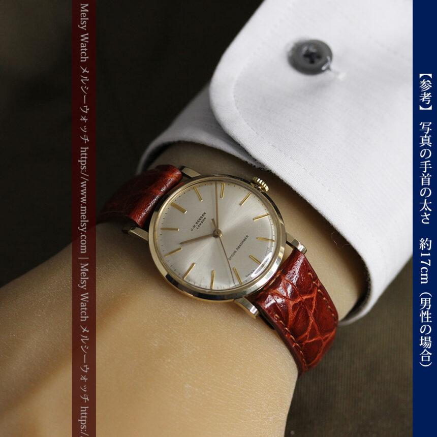 ベンソンの昭和レトロな金無垢アンティーク腕時計 【1969年頃】-W1532-21
