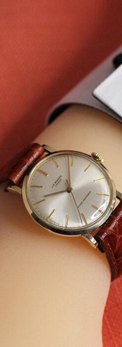 ベンソンの昭和レトロな金無垢アンティーク腕時計 【1969年頃】-W1532-23