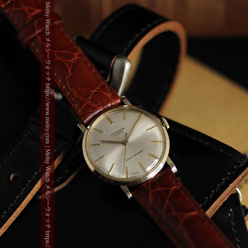 ベンソンの昭和レトロな金無垢アンティーク腕時計 【1969年頃】-W1532-3