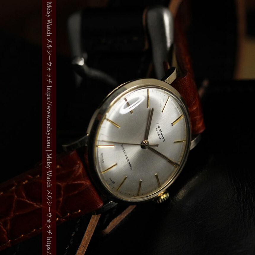 ベンソンの昭和レトロな金無垢アンティーク腕時計 【1969年頃】-W1532-4