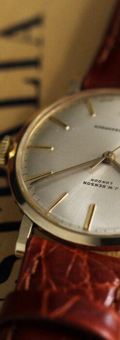 ベンソンの昭和レトロな金無垢アンティーク腕時計 【1969年頃】-W1532-5