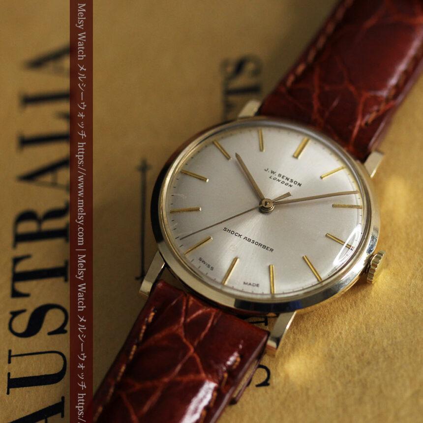 ベンソンの昭和レトロな金無垢アンティーク腕時計 【1969年頃】-W1532-6
