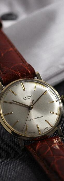 ベンソンの昭和レトロな金無垢アンティーク腕時計 【1969年頃】-W1532-7