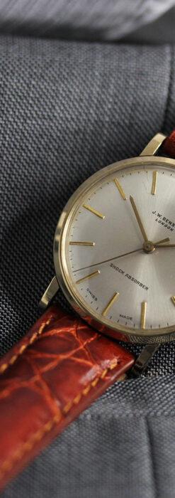 ベンソンの昭和レトロな金無垢アンティーク腕時計 【1969年頃】-W1532-8