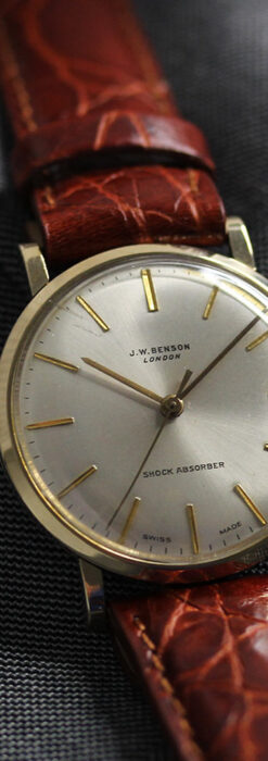 ベンソンの昭和レトロな金無垢アンティーク腕時計 【1969年頃】-W1532-9